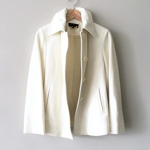Jason Kole Cream Wool Coat